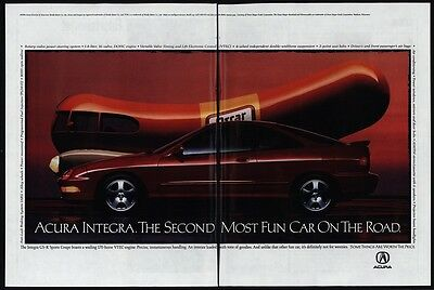 1995 OSCAR MAYER WIENERMOBILE - Wiener Mobile - ACURA GS-R Sports Car VINTAGE AD