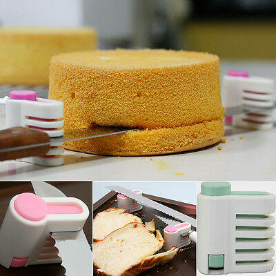 1 Pair DIY Kitchen Tool Cake Cutter Leveler 5 Layer Slicer Cutting Fixator New