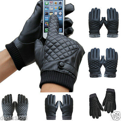 Men Winter Thermal Waterproof Bike Bicycle Cycling Touch Screen Sports Gloves