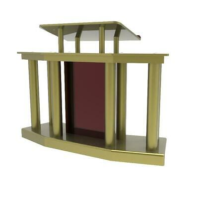 Deluxe Large Church Podium Church Pulpit Lectern Wrap Around Acrylic Wood Pulpit