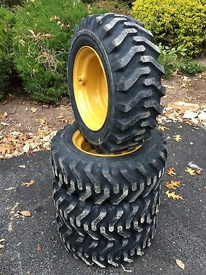 4 NEW 10X16.5 Skid Steer Tires & Rims for Caterpillar - CAT - 10-16.5 - 10 ply