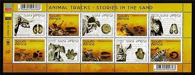 South Africa Mnh 2006 Sg1600-1609 Animal Tracks - Stories In The Sand Set Of 10