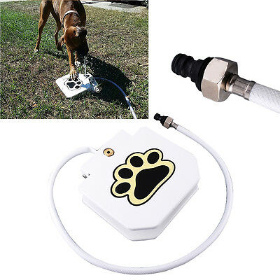 Dog Fountain Dog Step Spray Foot Pedal Operated Water Drinking Dish Spring