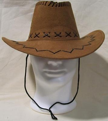 CAPPELLO COWBOY CAMMELLO texano camperos feste party scamosciato