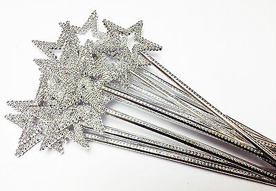 12X long Plastic Princess Queen STAR Wands Party Goody Bag Favor Costume Supply