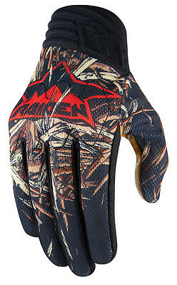ICON Raiden DEADFALL Mesh/Leather Offroad/Dualsport Gloves (Black) Choose Size
