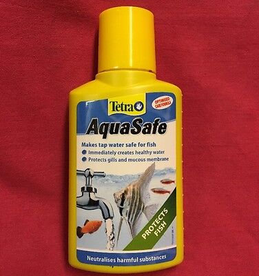 Tetra Aquasafe 100 ml Fish Tank Water Conditioner Dechlorinator Tap Safe Condit