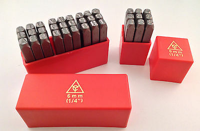 "36pc 1/4"" 6MM Letter & Number Stamp Punch Set Hardened Steel, Metal Wood Leather"