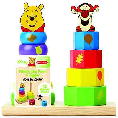 Baby Wooden Stacker New Game Winnie The Pooh Toy Character Figure FREE SHIPPING