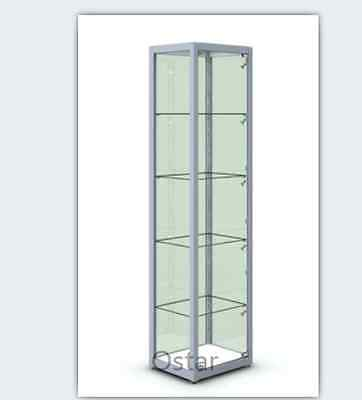 Glass cabinet shop counter display showcase jewellery hobby collection model car