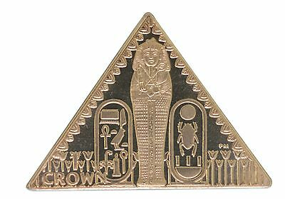 Isle of Man 1 Crown, 2008, Mint, Tutankhamun Coffin Pyramid, Queen Elizabeth