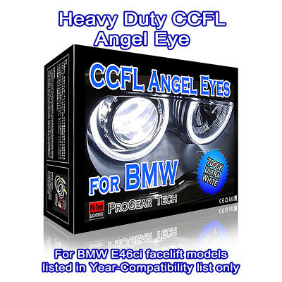 7000K White Heavy Duty BMW CCFL Angel Eyes Halo Rings E46 ci facelift 04-06