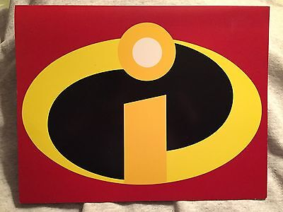 4 NEW Disney Store Exclusive The Incredibles Lithographs w/folder 2004