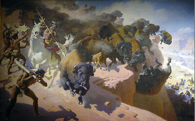The Foul Rope  by William Robinson Leigh   Giclee Canvas Print Repro