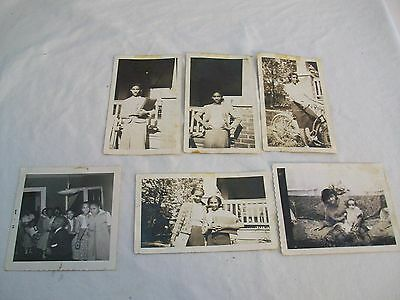 Vintage Black and White Photos Children Lot of 6