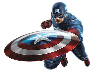Sticker Autocollant Poster A4 Comics Marvel Captain America.the First Avenger N5