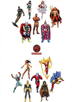 STICKER AUTOCOLLANT POSTER A4 COMICS MARVEL-JEUX CAPCOM.MARVEL VS CAPCOM RYU N°4 Posters