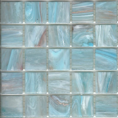 25pcs GM87 Pastel Blue Bisazza Le Gemme Italian Glass Mosaic Tiles 2cm x 2cm