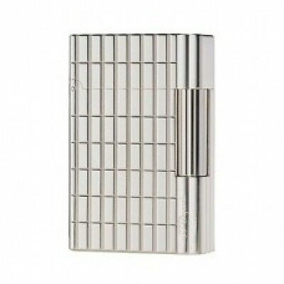 S.T. Dupont Lighter - Gatsby Silver Plate & Cut Lines - 18138