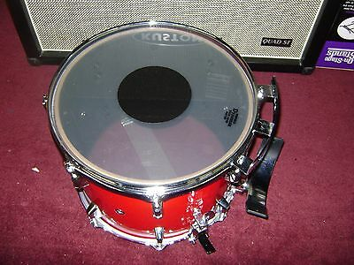 REMO BRAV0 ACOUSTICON Snare TOM Drum 13x11 Candy Apple Red Clear Black dot