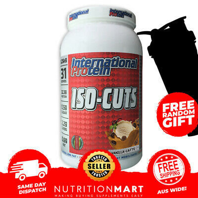 INTERNATIONAL PROTEIN ISO-CUTS - 1.25kg - 31 SERVES - THERMOGENIC WPI - ISO CUTS