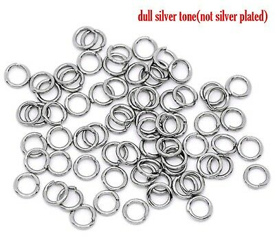 500 x Stainless Steel Gunmetal Plated Strong Open Jump Rings 5mm Dia(B10269)
