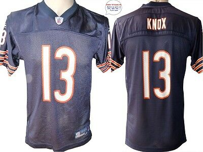 Maillot nfl Foot US américain BEARS N°13 Knox Taille Yth L (us) -> S (fr)