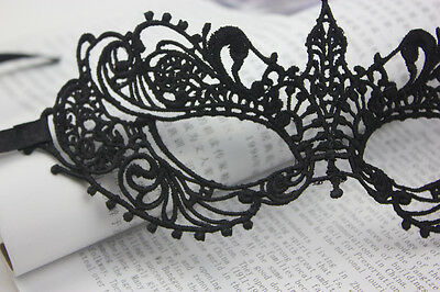 Black Stunning Venetian Masquerade Eye Mask Halloween Party Lace Fancy Dress 07