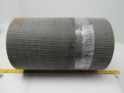 "1 Ply Black Interwoven Polyester Brushed Conveyor Belt 30Ft X 17"" 0.205"" Thick"
