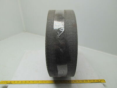 1 Ply Black Interwoven Polyester Brushed Conveyor Belt 122Ft X 5-1/2""