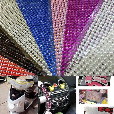 1000pcs 4mm DIY Clear Rhinestone Self Adhesive Diamantes Stick on Gems Fashoon