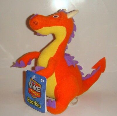 Fisher Price Mike The Knight Sparkie Dragon Plush Stuffed Animal New With Tags