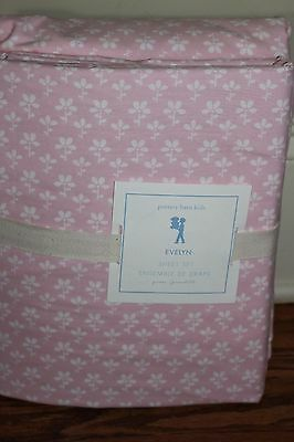 NWT Pottery Barn Kids Evelyn Floral queen sheet set girls pink