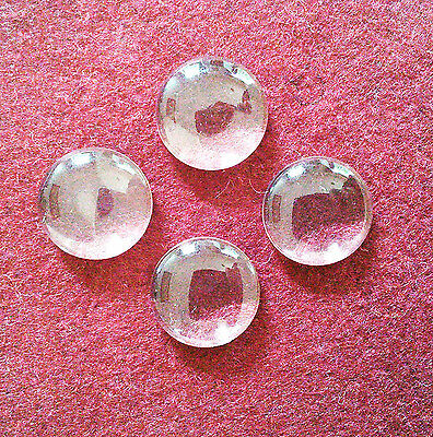 10 x Glass cabochon inserts glasses dome magnifying 10 12 14 16 18 20 25 30mm