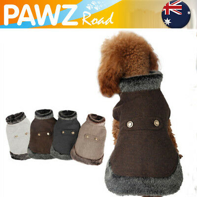 Pet Dog Cat Clothes Coat Woolen Hoodie Pup Cat Fur Jumper Warm Jacket Clothing