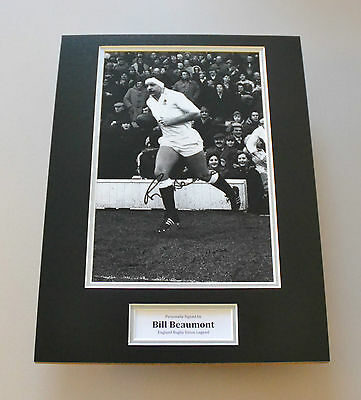 Bill Beaumont Signed 16x12 Photo Autograph Display England Rugby Memorabilia COA