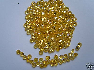 2mm yellow round loose cubic zirconia stones 20 for 99p.
