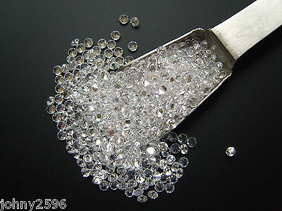 2.5mm clear white cubic zirconia gemstones 10 for £1.20p