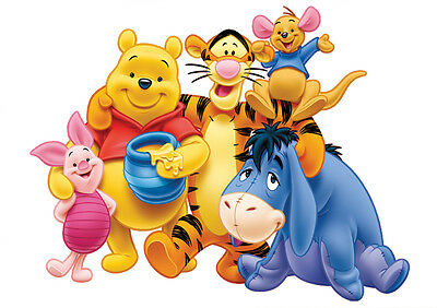 Sticker Autocollant Poster A4 Dessin Disney Winnie L Ourson