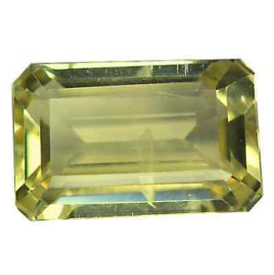3.02 cts Natural Octagon-cut Fiery-Luster Yellow VVS2 Andesine-Labradorite