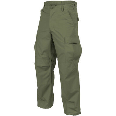 Helikon Genuine Bdu Military Combat Pants Army Cargo Cotton Trousers Olive Green