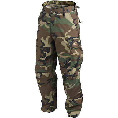 Helikon Tactical Bdu Combat Trousers Mens Hunting Cargo Pants Us Woodland Camo