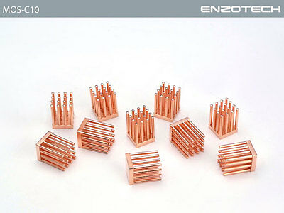 Enzo Tech Pure Forged CopperLow Profile  MOSFET Cooler - MOS-C10