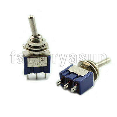5PCS Blue Mini Toggle Switch SPDT ON-OFF-ON Three Position MTS-103 12V 6A