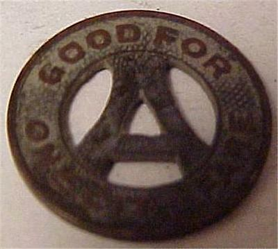 Transit Token-One City Fare-Akron N.o.t.& L Co    4482C