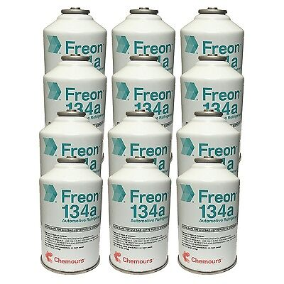 DuPont Chemours Refrigerant Freon 134 134a AC 12 Cans (12oz)