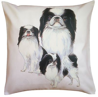 Japanese Chin Group Breed of Dog Cotton Cushion Cover - Perfect Gift