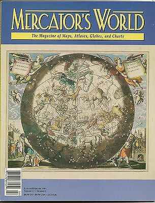 1997 MERCATOR'S WORLD Cellarius Celestial Map Magazine JAPAN Frisland Wind Heads