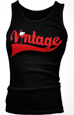 Vintage Wine Glass Red Old Classic Aged Year Vine Good Art Soul Girls Tank Top