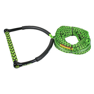 JOBE ELITE GREEN HANDLE & 70ft SKI WAKEBOARD KNEEBOARD ROPE